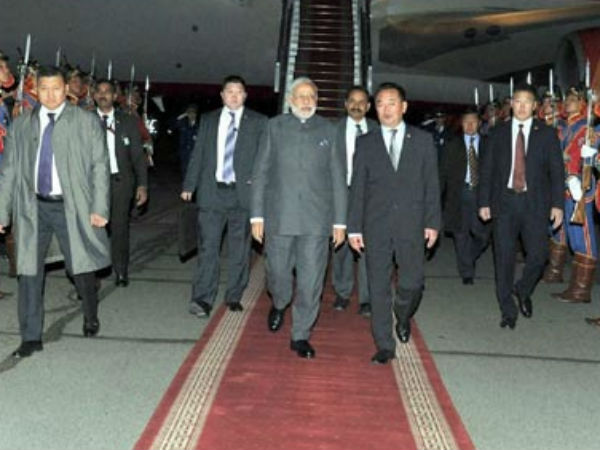 Pics: PM Narendra Modi in Mongolia for second leg of three-nation tour