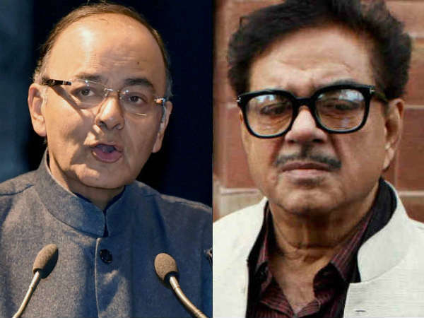 Arun Jaitely openly criticises the Shatrughan Sinha on Yakub Memon mercy plea