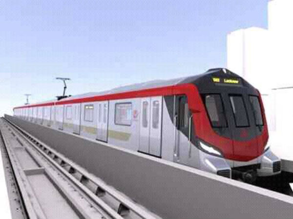 First look of Lucknow Metro comes out 1100 passengers can travel at one time