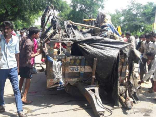 राजस्थान: भीषण सड़क हादसे में 8 की मौत, 20 अस्पताल में भर्ती