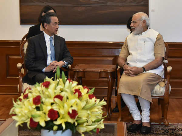Chinese Foreign Minister Wang Yi meets PM Narendra Modi