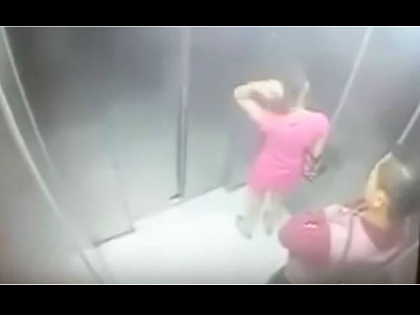 women in lift