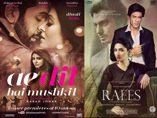 Ae Dil Hai Mushkil and Raees release