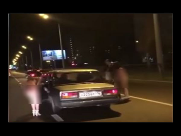 Russian girls strip on roads and beg to find husbands