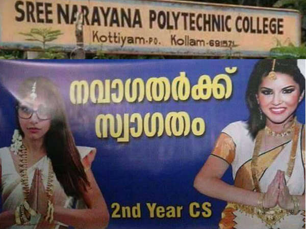 In This Kerala College, Sunny Leone And Mia Khalifa 'Welcomed' Freshers