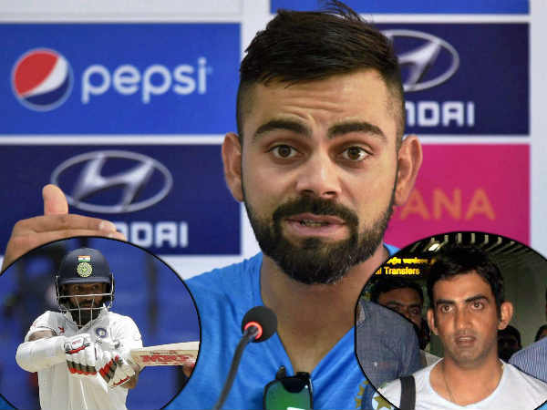 Gambhir or Dhawan: Who will Virat Kohli choose for Kolkata Test?