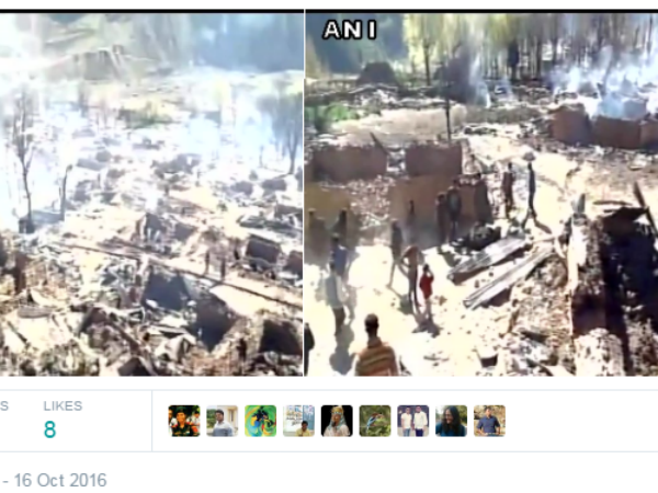 Kishtwar(J&K): Over 80 houses and 15 cow sheds gutted by fire in Sukhnai village in Kishtwar