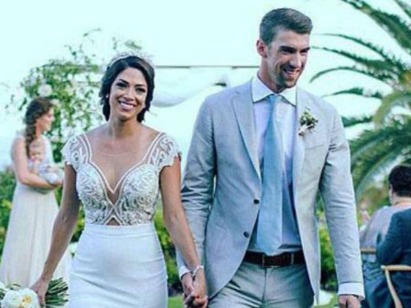 Michael Phelps and Nicole Johnson share first photos from their Cabo wedding!