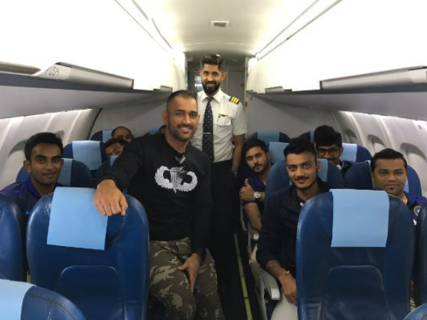 MS Dhoni-led Indian team arrives in Dharamsala for 1st ODI against New Zealand