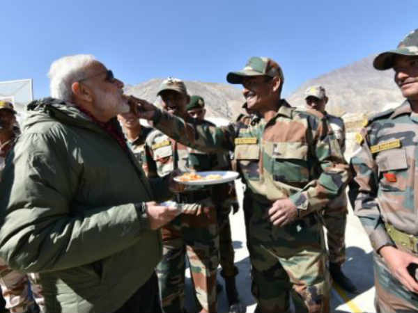 PM Modi celebrates Diwali with jawans of ITBP, Indian Army in Himachal