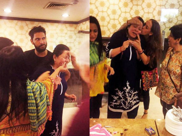 Yuvraj Singh's Mother Birthday Celebrated By Hazel Keech, Pictures