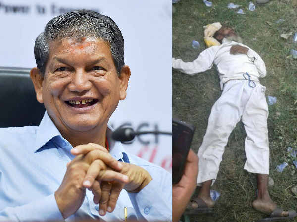 An 60 year old man dead in CM Harish Rawat's Rally