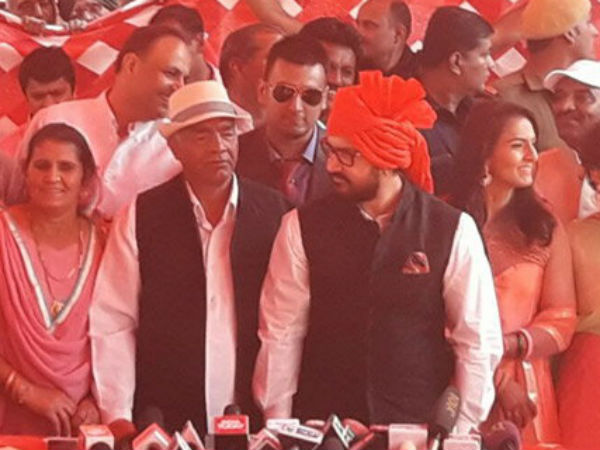 Bhiwani (Haryana): Aamir Khan attends Geeta Phogat's (Wrestler) wedding ceremony