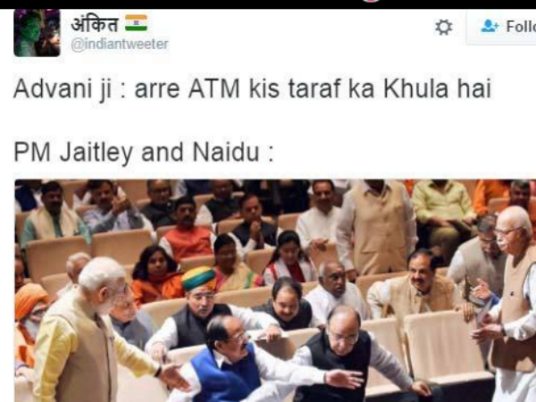 Viral Photo: Funny Caption on BJP veteran L K Advani : Parliamentary Board Meeting