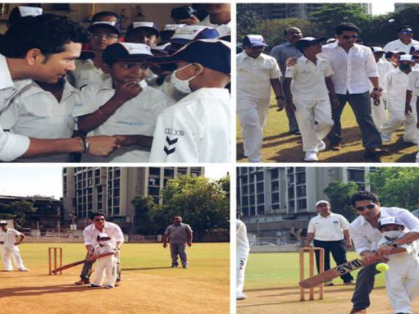 Sachin Tendulkar Celebrates Children's Day With Kids, Played Street cricket