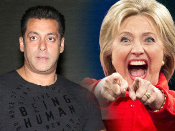 Salman Khan supports Hillary Clinton for US President