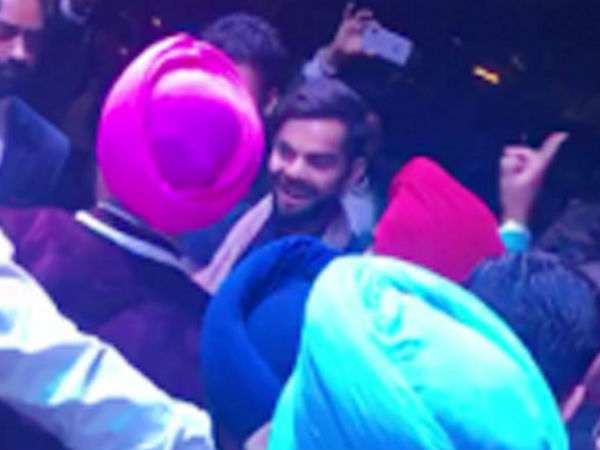 Virat kohli dances at Yuvraj Singh-Hazel Keech Mehndi celebrations,watch video