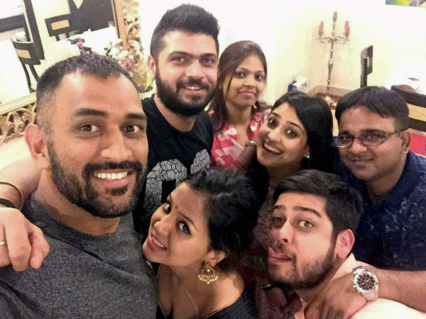PHOTOS: MS Dhoni celebrates Diwali with family, childhood friends