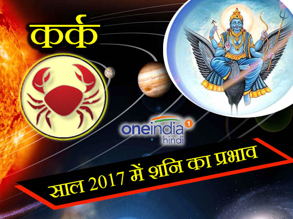 Saturn or Shani Effect Horoscope 2017 on Cancer