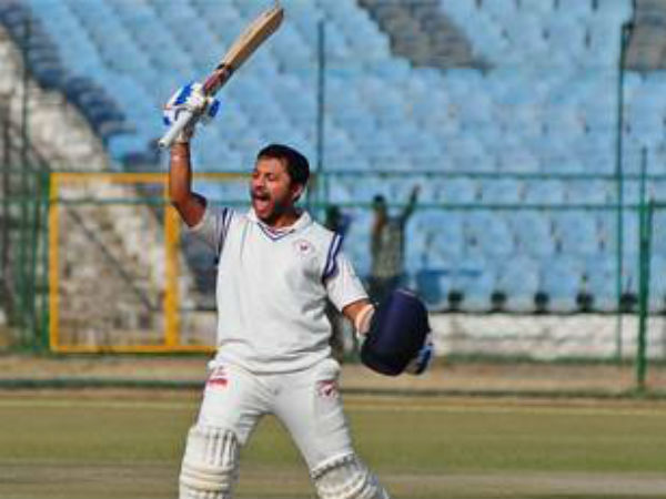 Samit Gohel double ton helps Gujrat to enter in Semifinal of Ranji
