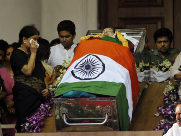 Jayalalithaaa's body, draped in her favourite green saree, Why?
