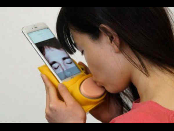 New smartphone device lets you kiss your long-distance lover