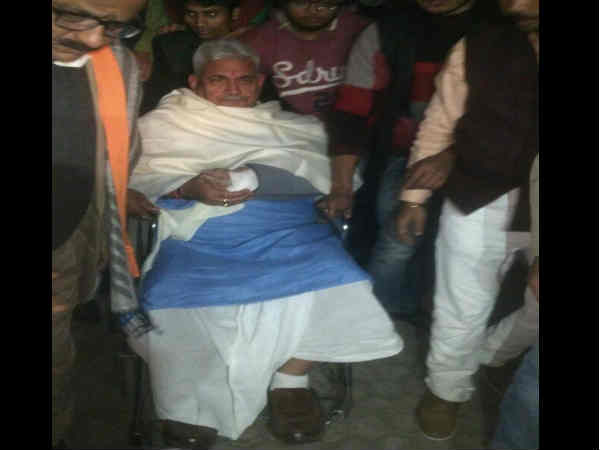 Union Minister Manoj Sinha has injured