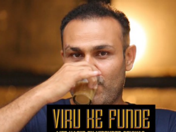 Virender Sehwag wishes Salman Khan in his style