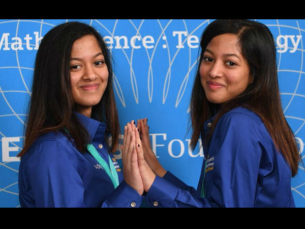 Indian-origin identical twin sisters