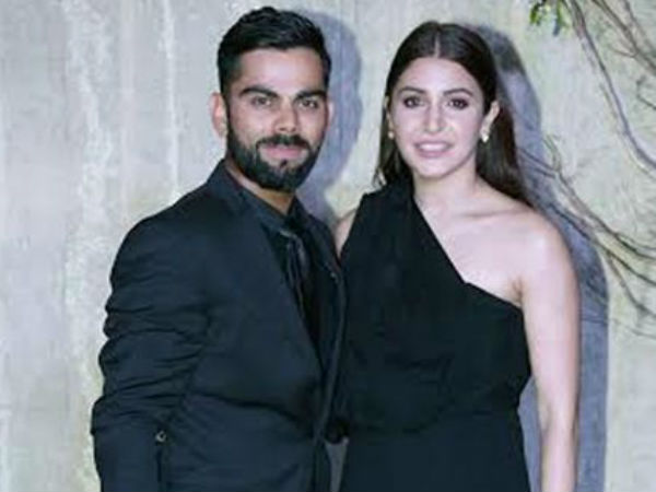Virat Kohli, Anushka Sharma pose for the cameras at Manish Malhotra's birthday bash,Pics
