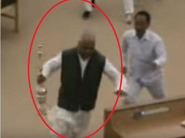 Tripura MLA runs away with Speaker's mace