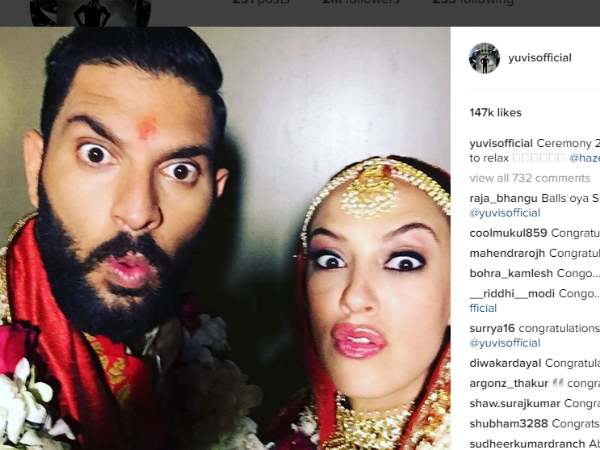 Yuvraj Singh's post-marriage selfie with wife Hazel Keech is funny