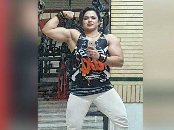 female bodybuilder thrown in jail after posting her muscles photo