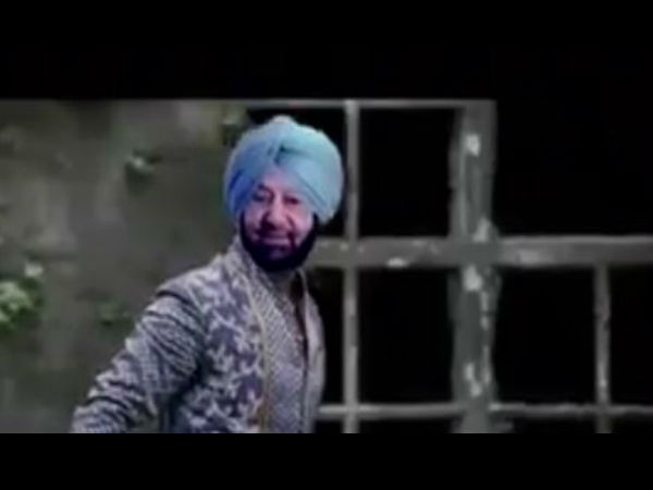 WATCH video: captain Amarinder Singh as Bollywood hero fighting Kejriwal and Badal