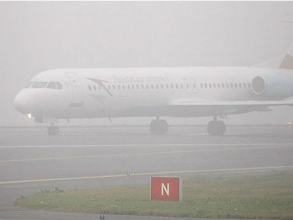 4 International and 8 domestic flights delayed at Delhi's IGI Airport due to prevailing weather conditions. #fog