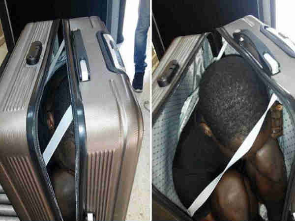 Female Moroccan migrant attempts to enter Spain in a suitcase, held