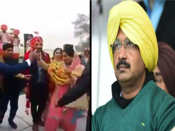 Aam Admi Party jhadu wala button song hit in Punjab play in wedding, video goes viral