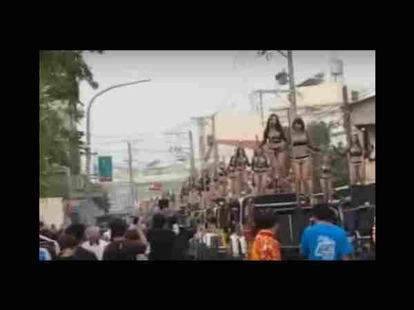 The hottest funeral: 50 pole dancers dance on pop music in funeral