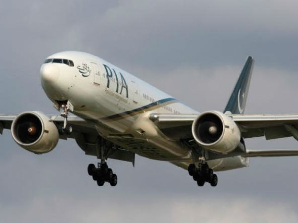 Military jets escort Pakistan International Airlines flight into London Stansted