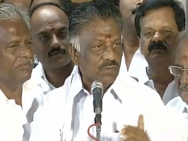 Shedding crocodile tears,passing new remarks every day is not going to help: Panneerselvam on Sasikala