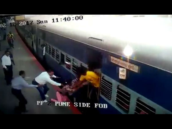 Watch: RPF officer saves girl from going under speeding train at Lonavala station