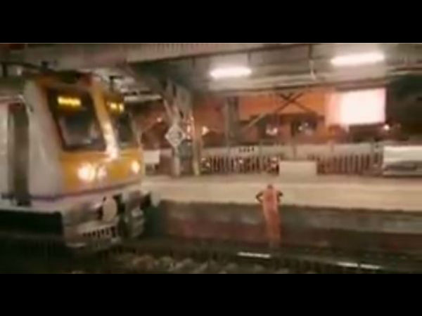 WATCH: Mumbai local train driver did this when he saw an old woman stuck on the railway track