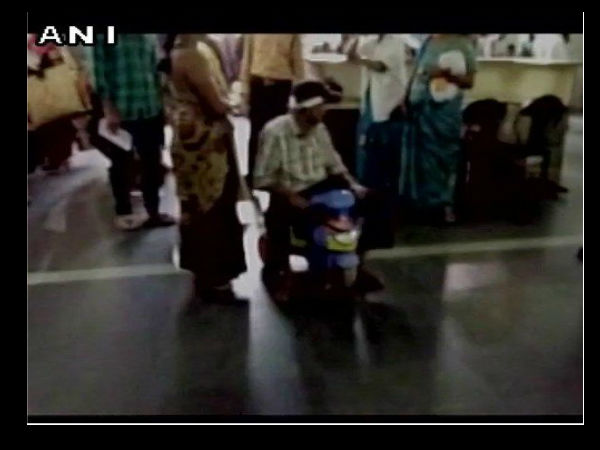 WATCH Patient forced to use child's tricycle to reach doctor in Hyderabad