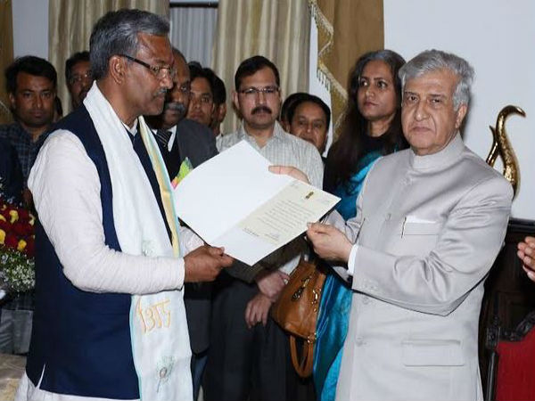 Uttarakhand Governor appointed BJP Legislative Party leader Trivendra Singh Rawat as CM & invited him to form government