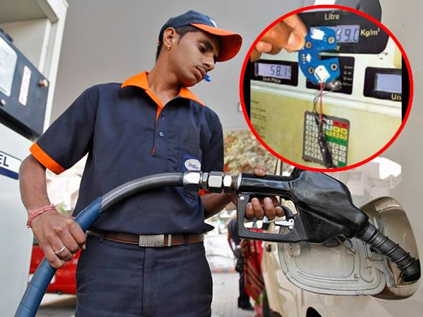 8 Petrol Pump Caught Using Cheating Chip Lucknow