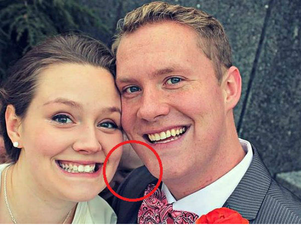 Couple Puts Favorite Wedding Picture on Facebook, But Their Friend Noticed Something Sinister