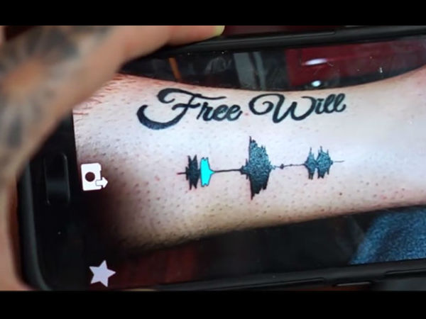 A Tattoo That You Can Listen To? You can hear its voice