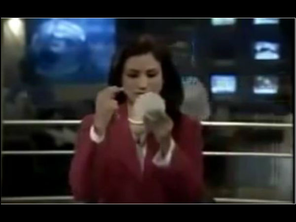 Live Video: female tv anchor fight with her make up artist