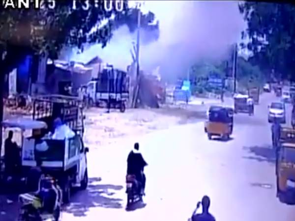 One killed, three injured after a cylinder exploded at a scrap godown in Hyderabad