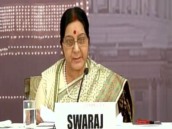 Sushma Swaraj at India-US forum in Delhi